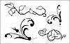 Vektor Cliparts: floralen Elementen
