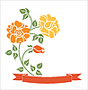 Vector clipart: ribbon with roses