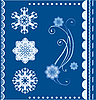 Vector clipart: winter card with snowflakes
