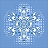 Vector clipart: snowflake over halftone