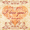 Valentines day greeting card | Stock Illustration