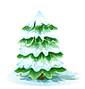 Vector clipart: Christmas tree with snow