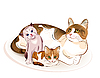 Vector clipart: Cats family. Cat and kittens