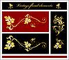 Vector clipart: floral elements