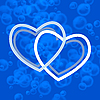 Vector clipart: blue hearts