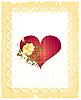 Векторный клипарт: старинная открытка с розой