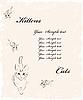 Векторный клипарт: фон с кошками