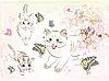 Векторный клипарт: кошек и бабочек