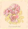 Векторный клипарт: осенние розы на старой бумаге