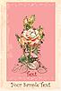 Векторный клипарт: открытка с розой