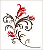 Векторный клипарт: красный цветок