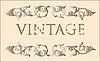Векторный клипарт: Винтажная открытка с завитками