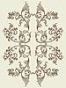 Векторный клипарт: старинные цветочный элемент для бесшовных текстур