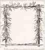 Векторный клипарт: старинные бамбук кадр