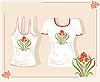 Векторный клипарт: футболка с дизайном-орнаментом