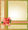 Vector clipart: abstract background with red rose
