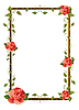Vector clipart: frame for picture with rose