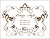 ID 3158736 | Vintage floral frame | Stock Vector Graphics | CLIPARTO