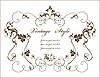 Vector clipart: vintage floral frame