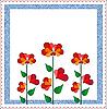 Vektor Cliparts: Valentines Day floralen Design