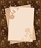 Vector clipart: vintage paper over floral background