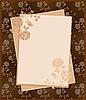 Векторный клипарт: старинные бумаги на цветочный фон