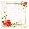 Векторный клипарт: старинные фона с красными розами и плющом