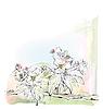 꽃에서 사과 나무의 스케치   Stock Vector Graphics