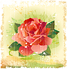 Vector clipart: vintage red rose