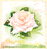 Vintage pink rose | Stock Vector Graphics