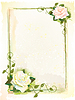 Vector clipart: Old style frame with roses. Imitation of watercolor