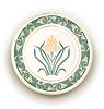 Vector clipart: plate with art nouveau design