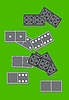 Vector clipart: Dominoes board game