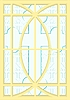 Vector clipart: Stained glass windows with cross
