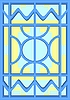 Vector clipart: Stained glass window