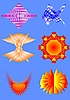 Vector clipart: variety of shapes