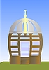 Vector clipart: Arbour, small house for rest