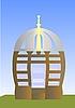 Векторный клипарт: Арбур, домик для отдыха