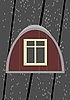 Vector clipart: Attic window