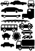 Car silhouettes | Stock Vector Graphics
