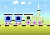 Vector clipart: Children`s train