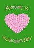 Векторный клипарт: сердце из розовых роз