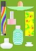 Векторный клипарт: парфюмерные флакончики