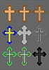 Vector clipart: Crosses