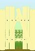 Векторный клипарт: Забор с люком