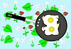 Vector clipart: Fried eggs