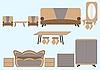 Vector clipart: Furniture