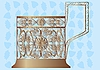 Vector clipart: Glass holder