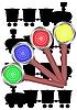 Vector clipart: Hand rail semaphore