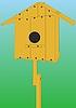 Векторный клипарт: Дом для птицы